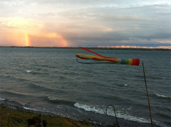 Strong Winds and Double Rainbow