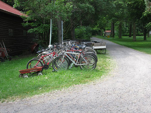 Bicycles only on the Island.