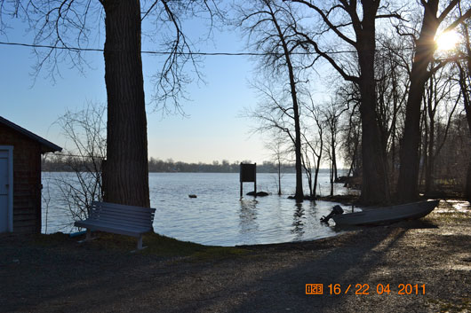 Dorval Island Shore - Early Spring 2011