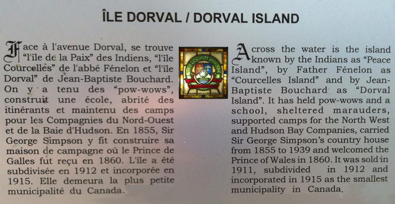 Bienvenu à la Ville de L'Île Dorval   Welcome to the Town of Dorval Island